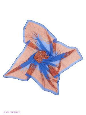 Платок Shapkoff. Цвет: синий, терракотовый