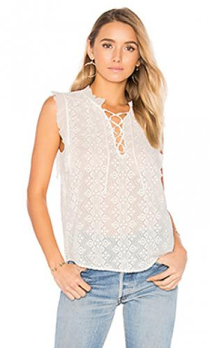 Sleeveless florence embroidered top Rebecca Taylor. Цвет: белый