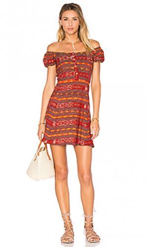 Платье valdez STELA 9. Цвет: красный