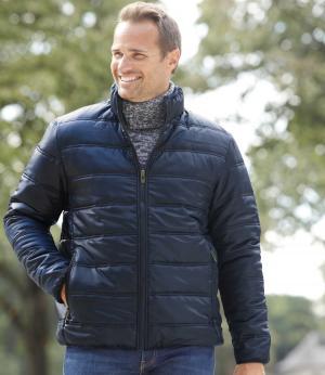Стеганая Куртка Atlas For Men AFM. Цвет: темно-синии