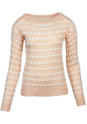 Пуловер Y.O.U.. Цвет: персиковый/белый
