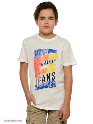 Футболка Gaudi. Цвет: молочный