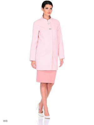 Пальто FORTUNA. Цвет: бледно-розовый