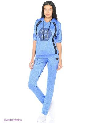 Спортивный костюм EZE. Цвет: синий