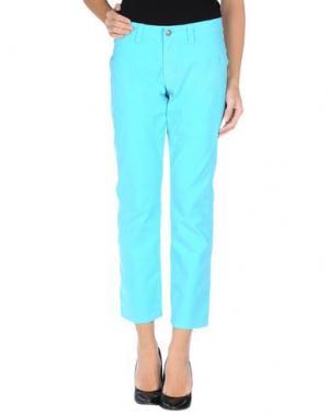 Повседневные брюки 9.2 BY CARLO CHIONNA. Цвет: бирюзовый