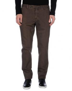 Повседневные брюки G.T.A. MANIFATTURA PANTALONI. Цвет: какао