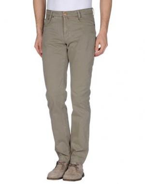 Повседневные брюки B SETTECENTO. Цвет: зеленый-милитари