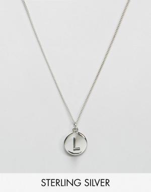 Fashionology Серебряное ожерелье с инициалом L. Цвет: серебряный
