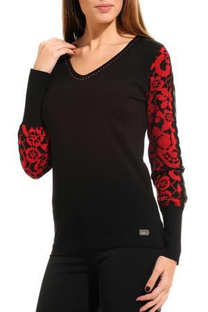 Пуловер GUITAR. Цвет: черный