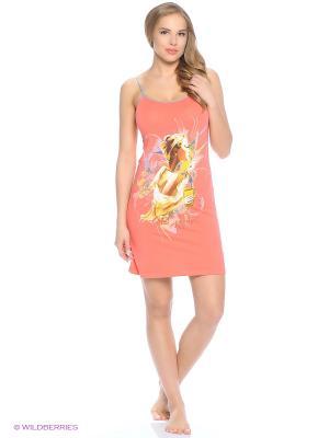 Сорочка NICOLETTA. Цвет: оранжевый