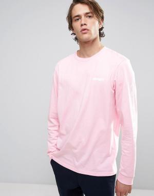 Carhartt Лонгслив WIP. Цвет: розовый