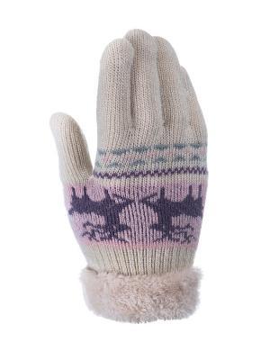 Перчатки детские Cascatto. Цвет: светло-бежевый