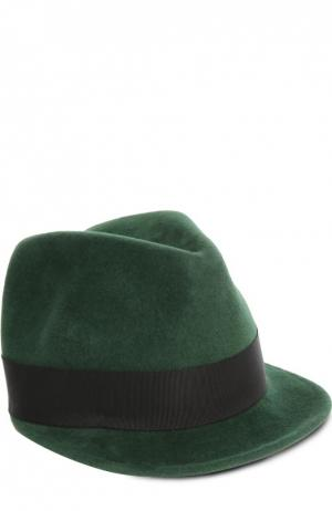 Шляпа Eugenia Kim. Цвет: темно-зеленый