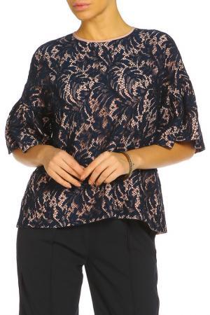 Блуза ZHOR&NEMA. Цвет: синий, пудровый