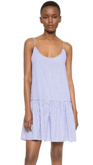 Мини-платье Horizon Vale. Цвет: синий/белый