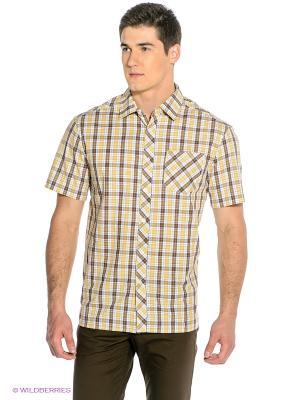 Рубашка Finn Flare. Цвет: желтый, белый, коричневый