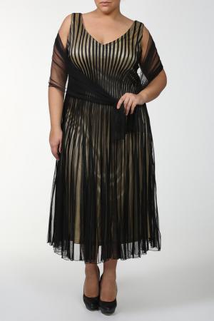 Платье Lia Mara. Цвет: черный, желтый