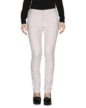 Повседневные брюки E-GÓ. Цвет: светло-серый