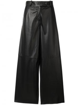 Широкие брюки Drome. Цвет: чёрный