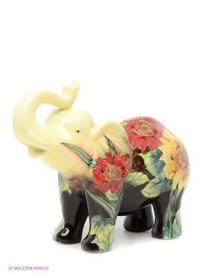 Копилка Слон Pavone. Цвет: желтый, черный, зеленый, красный