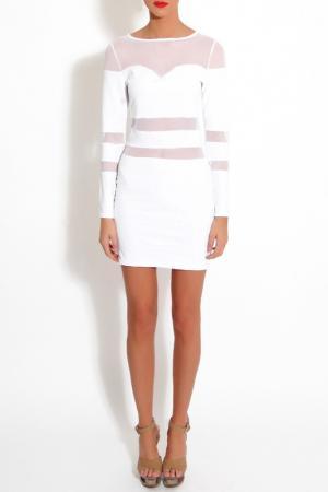 Платье Rare london. Цвет: белый