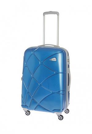 Чемодан 74 л (M) Carlton. Цвет: синий