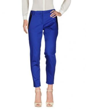 Повседневные брюки GAETANO NAVARRA. Цвет: ярко-синий