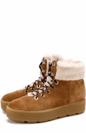 Замшевые ботинки с подкладкой из овчины Vic Matie. Цвет: коричневый