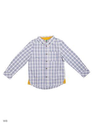 Рубашка United Colors of Benetton. Цвет: белый, серый, черный