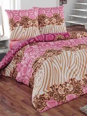Комплект постельного белья Фэшн Тет-а-Тет. Цвет: розовый, бежевый
