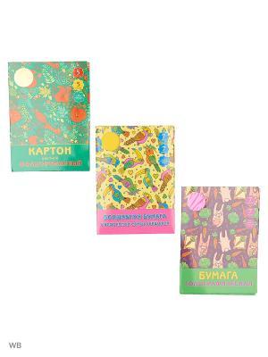 Набор для творчества №5 КОМПЛЕКТЫ Канц-Эксмо. Цвет: зеленый, розовый