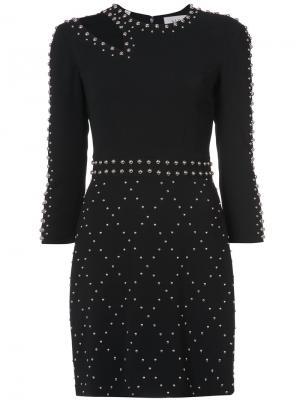 Приталенное платье с заклепками A.L.C.. Цвет: чёрный