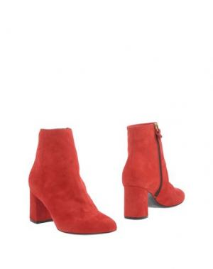 Полусапоги и высокие ботинки PREZIOSO. Цвет: красный