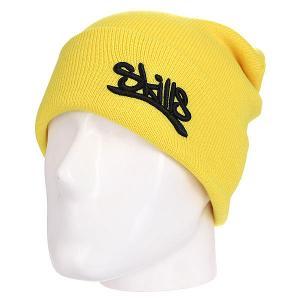 Шапка  001 Yellow Skills. Цвет: желтый