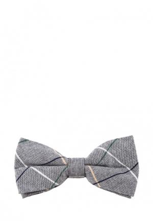 Бабочка Churchill accessories. Цвет: серый