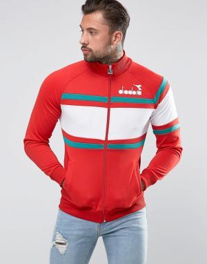Diadora Спортивная куртка со вставками. Цвет: красный