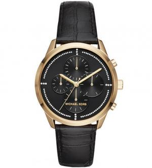 Часы с браслетом выделкой под рептилию Michael Kors