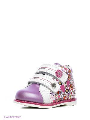 Ботинки ELEGAMI. Цвет: белый, сиреневый