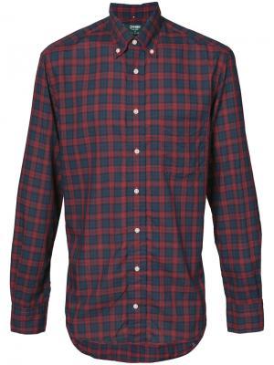 Рубашка в клетку Gitman Vintage. Цвет: красный