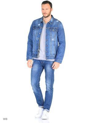 Куртка MOSSMORE. Цвет: синий, голубой