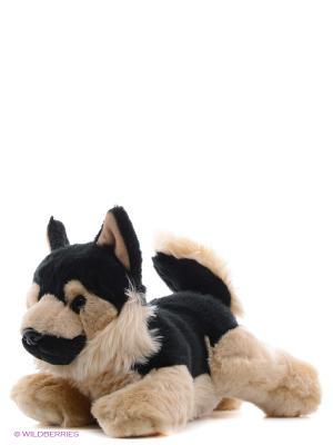 Игрушка мягкая Немецкая Овчарка 28 см Aurora. Цвет: коричневый, черный