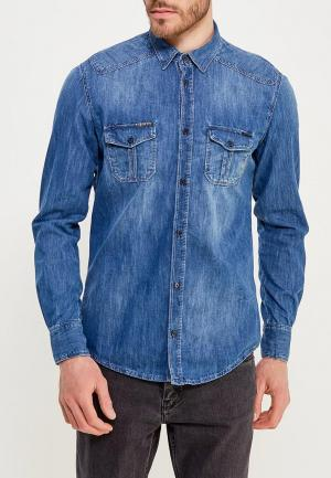 Рубашка джинсовая Antony Morato. Цвет: синий
