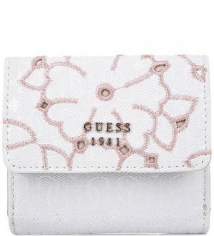 Белый кошелек с вышивкой Guess. Цвет: белый