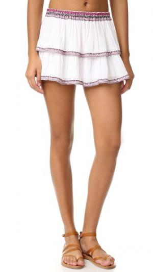 Пляжная мини-юбка Thayer. Цвет: вышивка