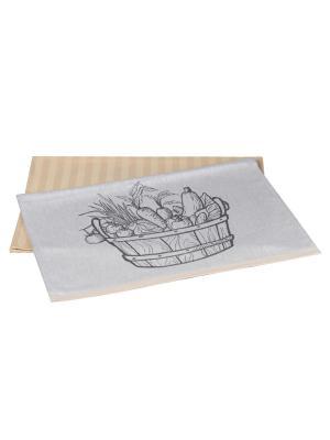 Кухонное полотенце в упаковке 50x70*2 VEGETABLES HOBBY HOME COLLECTION. Цвет: бежевый