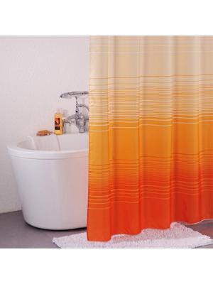Штора для ванной IDDIS. Цвет: оранжевый