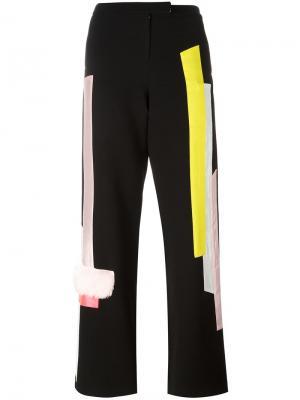 Прямые брюки с панельным дизайном Caitlin Price. Цвет: чёрный