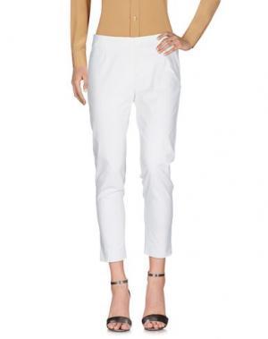 Повседневные брюки GAZEL. Цвет: белый