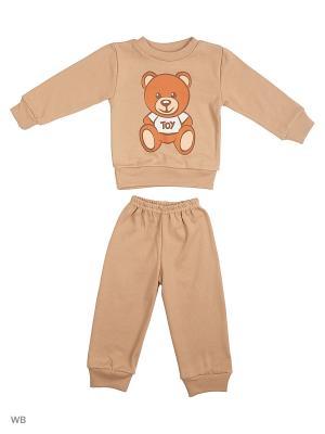 Пижама Babycollection. Цвет: коричневый