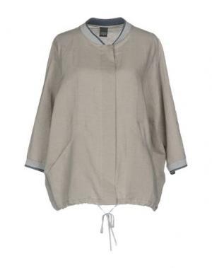 Легкое пальто LORENA ANTONIAZZI. Цвет: светло-серый